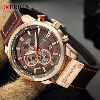 Curren Watch Top Brand Man Watches with Chronograph Sport Waterproof