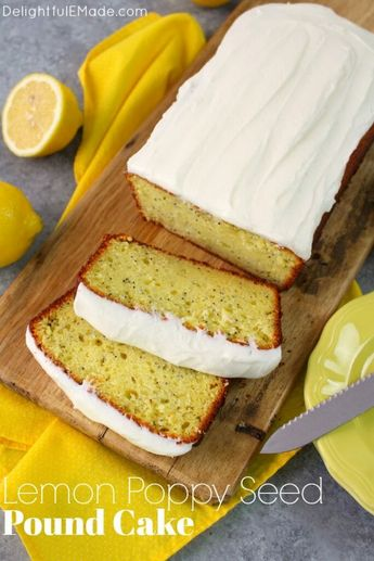 A seriously amazing lemon cake recipe! Much like lemon poppy seed muffins and quick bread, this super moistLemon Poppy Seed Pound Cake is loaded with delicious lemon flavor. Topped with a wonderfully creamy lemon icing, this pound cake recipe is a keeper!