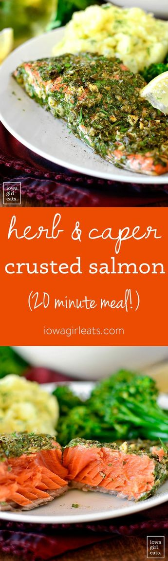 Herb and Caper Crusted Salmon