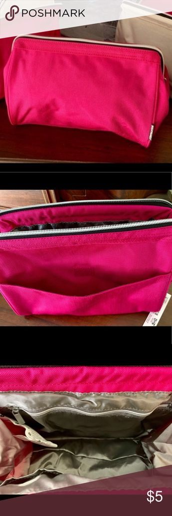 NWT IKEA travel/makeup bag Large cosmetic/travel bag; Easy wipe clean fabric; Exterior 100% Nylon; Interior: 100% Polyester;  (1) Inner velcro closure pocket & (1) Zippered pocket; Zipper closure; (1) exterior velcro closure pocket. IKEA Bags Travel Bags