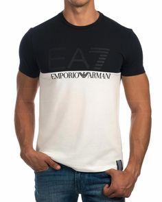 b98aec3db18 Camiseta Emporio Armani EA7 - Azul Noche Logo Plata