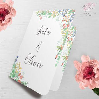 d87e1b58b6 Fall Berry Nyitható Akvarell Esküvői Meghívó - Esküvői Meghívó, Alkalmi és  Családi Grafika Webáruház