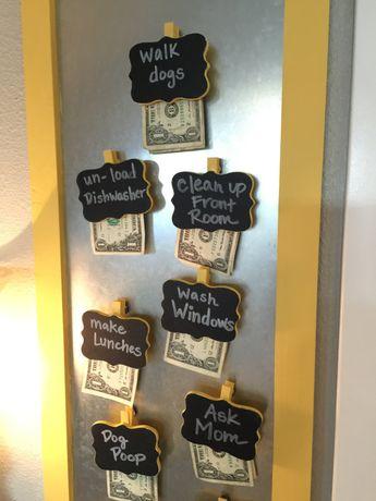 Chore Chart Dollar Bill Motivation Set