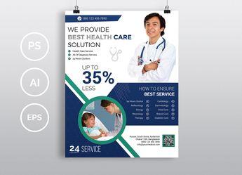 Doctor & Medical Flyer. Vol-02 by Imagine Design Studio on @creativemarket