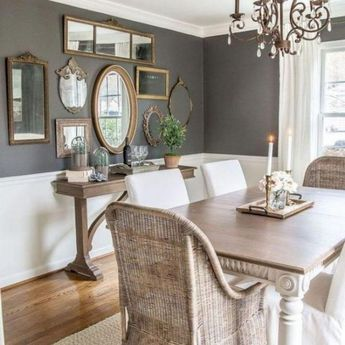 20 Top Dinning Room Decor Farmhouse Wall Colors Choices