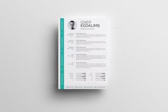 Green and White Resume - Graphic Templates