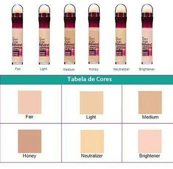 Maybelline corretivo the eraser shades