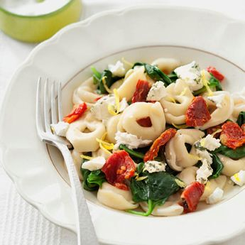 Tortellini Toss with Herbed Goat Cheese