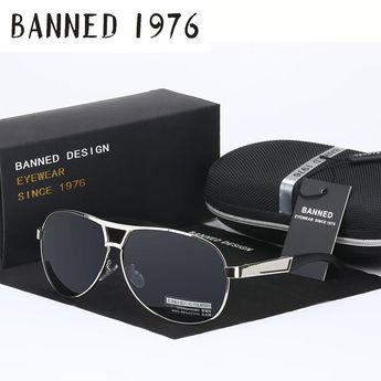 dfa3a87dd144d BANNED 1976 Classic Metal Aviator Sunglasses