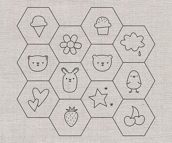 Hexagon Patterns for Stitching by wildolive, via Flickr