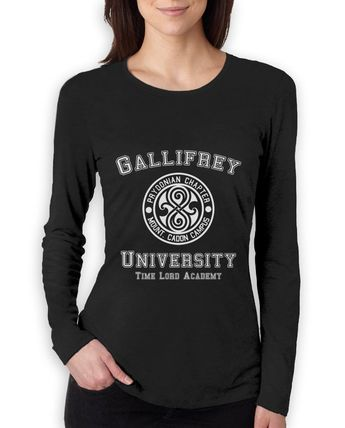 Details about gallifrey_university Women Long Sleeve T-Shirt call the doctor Dr costume who