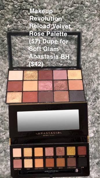 Makeup Dupe for Anastasia BH soft glam. #eyemakeup #anastasiabeverlyhills #makeup #makeupdupes #eyeshadow #drugstorebeautyproducts #softglampalette #makeuprevolution