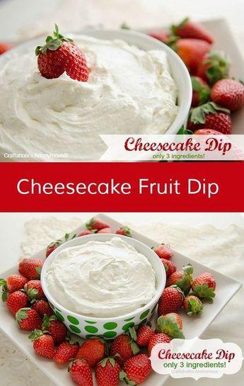 Best Cheesecake Dip: Only 3 ingredients!