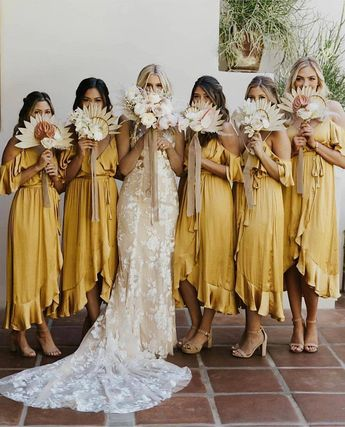 Yellow dresses for your bridesmaids? Yes, please! We love how the color accentuate such jovial and bohemian feel, making it such the…