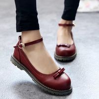 Retro cute bow Leather shoes from Women Fashion