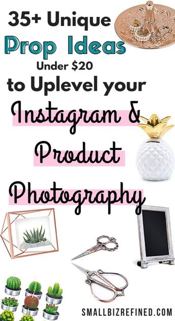 Trying to figure out what to post on Instagram or how to photograph your products doesn't have to be hard! Here's some inspiration for some cool props & backdrops (all under $20) to use for your Instagram and product photography. #etsyshop  #photographyprops #productphotography #instagram