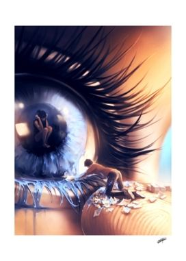 «Show me love» Art Print by Cyril Rolando - Aquasixio - Numbered Edition from $24.9