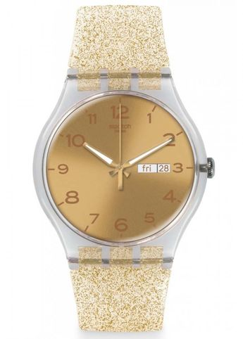Swatch Golden Sparkle Ladies Watch SUOK704
