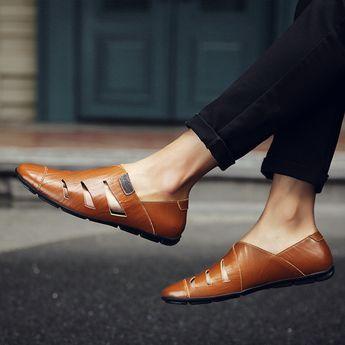 Menico Menico Men Large Size Hand Stitching Microfiber Leather Non-slip Casual Shoes - NewChic Mobile