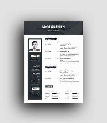 Hades Elegant Professional Resume Template - Graphic Templates