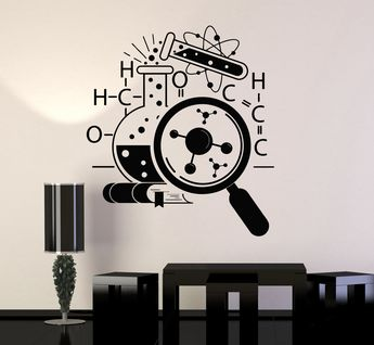 Vinyl Wall Decal Science School Chemistry Scientist Stickers Murals Unique Gift (ig4745)