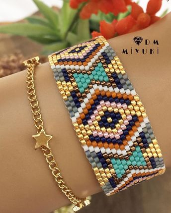 En yeni modelim ⭐️ ________________________________________ Sipariş ve bilgi için Dm ulaşabilirsiniz ‍ #stylish #miyuki #fashion #taki #takı #design #handmade #model #tasarim #like4like #elemeği #gold #colors #happy #trend #accessories #aksesuar #bayan #moda #girls #love #instalove #instalike #instagood #art #tarz #style #beads#colorful #jewelry