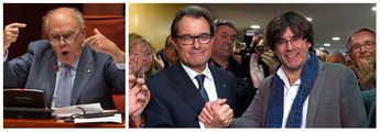 Jordi Pujol, Artur Mas y Carles Puigdemont.