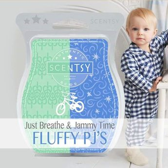 SCENTSY Fluffy PJ's = 1 cube Just Breath + 1 cube Jammy Time