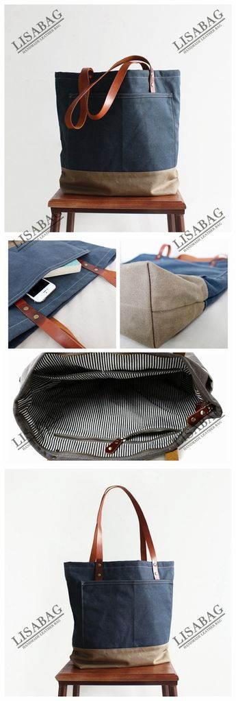 ... Handcrafted Canvas Tote Bag Womens Fashion Bag School Bag Handbag 14047  newest b5459 143d8 ... ab054ecc65