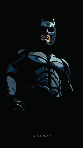 Batman, minimal, artwork, 720x1280 wallpaper