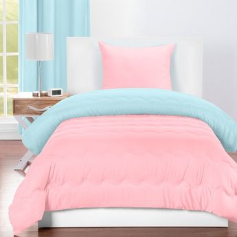 Crayola Sky Blue and Tickle Me Pink Comforter
