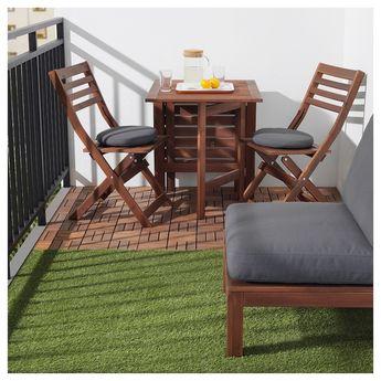 IKEA RUNNEN Brown Stained Decking, outdoor