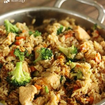 One Pot Chicken Teriyaki Rice Bowls