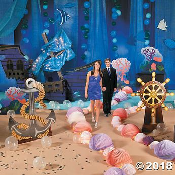 Planning an Under the Sea prom theme? This décor kit is perfect for bringing the sea to life at your next event! Find more party supplies and event ...