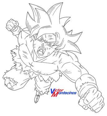 100 Goku Ultra Instinto Dominado Para Colorear Dibujos Para