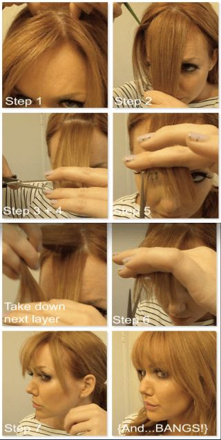 How to Cut + Trim Your Own Bangs at Home Like a Pro