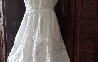 b69af0129923 vestido branco longo algodão laise renda grupir exg no Elo7 | Belíssima  Moda Criativa Bordados e
