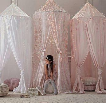 Tassel Chiffon Round Dome Bed Net Unique Design Mosquito Net INS Bed Canopy-White
