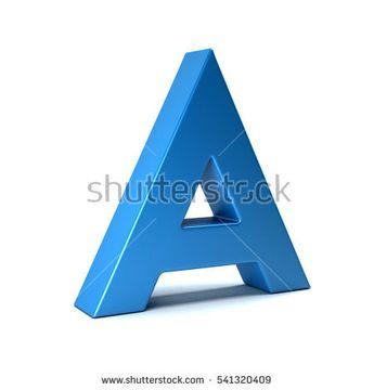 A Letter Icon . 3D Render Illustration