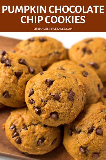 Copycat Harmons Pumpkin Chocolate Chip Cookies