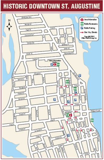 St Augustine Florida Map.Romantic And Free Things To Do In St Augustine Flor