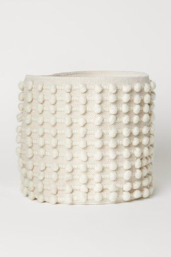 Large Storage Basket - Natural white - Home All | H&M US