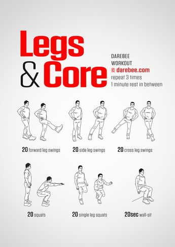 Legs & Core, Level II.   Lunch breaks are times to also rejuvenate with a workout.