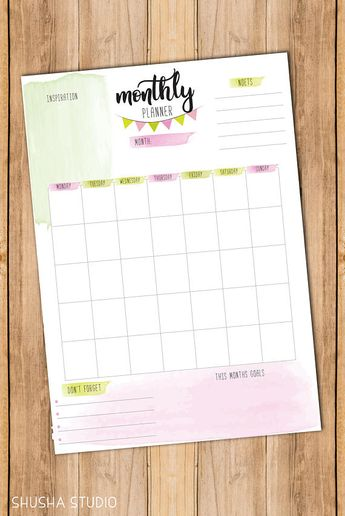 Printable Weekly Planner Pages, Printable Monthly Planner Inserts, Daily Printable Inserts, Instant Download