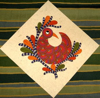 Gond Painting by aparna bhandar, via Behance