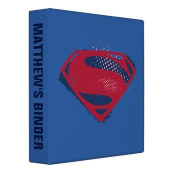Justice League | Brush & Halftone Superman Symbol Binder | Zazzle.com