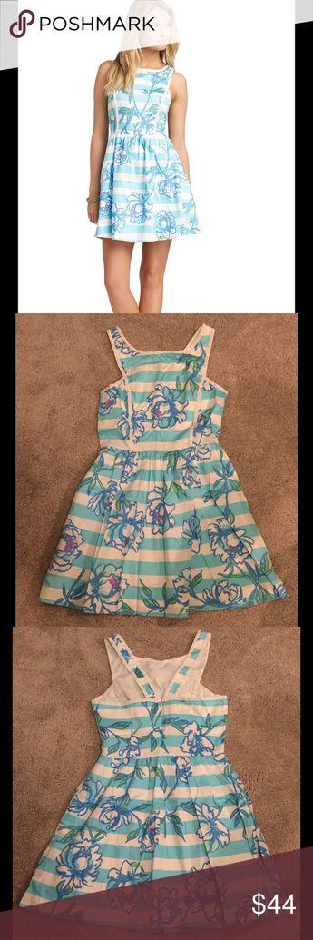 677c9696cd8ead Lilly Pulitzer Sandrine Shorely Blue Dress 2 👗 Lilly Pulitzer Sandrine Shorely  Blue Toss the Line