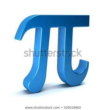 Pi Number Mathematical Symbol on White Background. 3D Rendering Illustration  #math #pi #number #3d #pinumber #calculus #school #college #symbol #icon