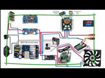 Лабораторный блок питания из к-модулей на пальцах - YouTube