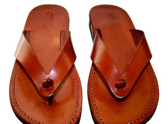 2a7aa4b33160 SALE Brown Surf Leather Sandals for Men   Women by SANDALI